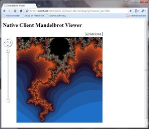 Mandelbrot NaCl in Chrome